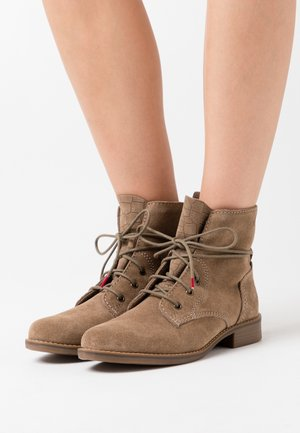 WOMS  - Lace-up ankle boots - pepper