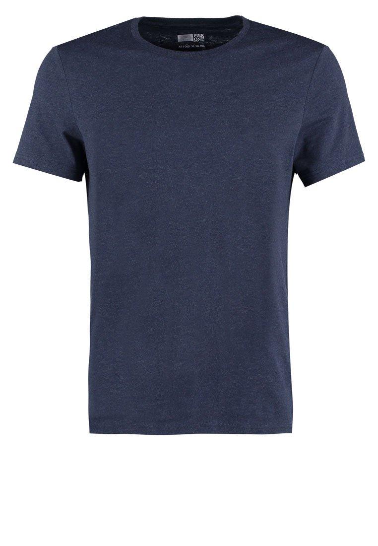 Pier One T-shirts - Dark Blue Melange/mørkeblå-melert