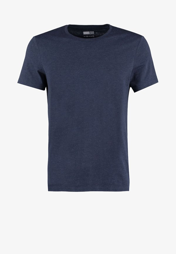 Pier One T-shirt basic - dark blue melange/granatowy melanż Odzież Męska HJYC