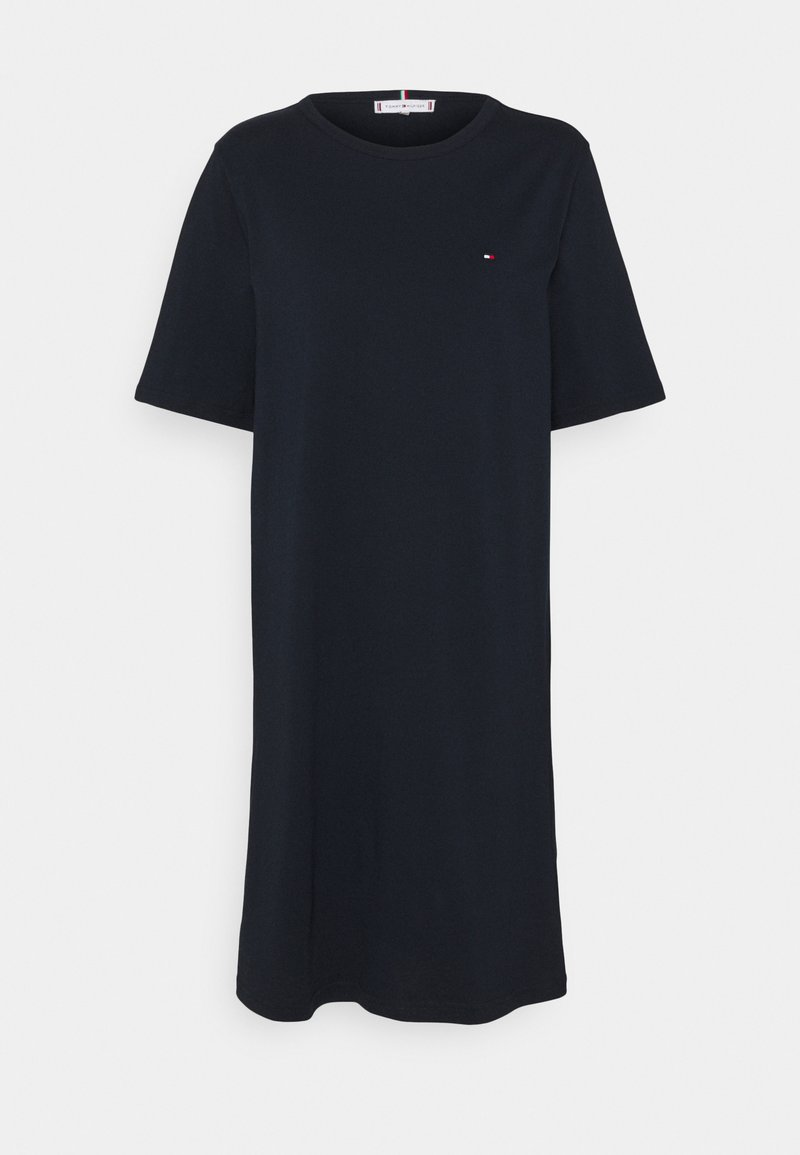 Tommy Hilfiger - SHIFT SHORT DRESS - Jersey dress - desert sky