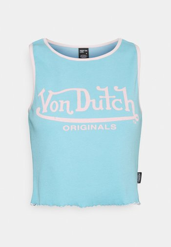 ASHLEY RACER CROPPED - Top - turquoise