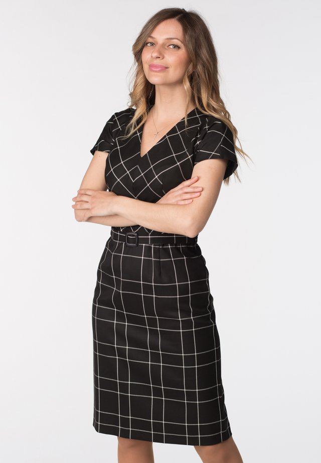 DRESS LIANA - Shift dress - black check