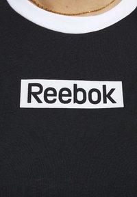Reebok - TRAINING ESSENTIALS LINEAR LOGO TEE - Print T-shirt - black - 3