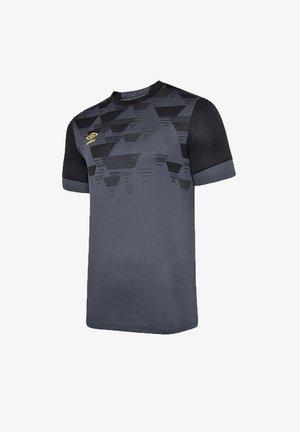 Basic T-shirt - grauschwarz