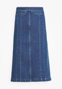 PENCIL SKIRT - Denim skirt - indigo