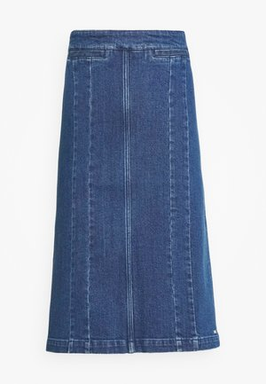 PENCIL SKIRT - Denimová sukně - indigo