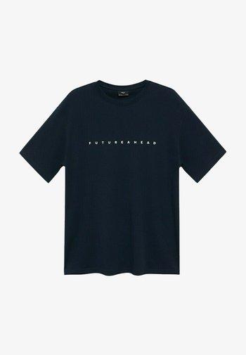 FUTURE-I - Print T-shirt - bleu marine foncé