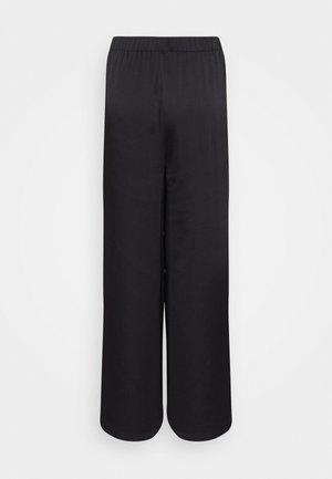 MATIAMU BY SOFIA X STRUCTURED WIDE LEG PANTS - Bukser - black