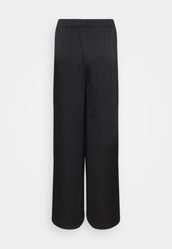 MATIAMU BY SOFIA X STRUCTURED WIDE LEG PANTS - Trousers - black