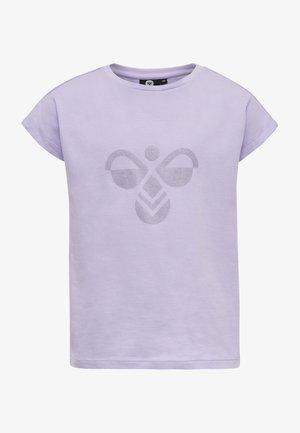 T-shirt z nadrukiem - pastel lilac
