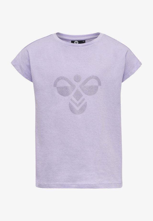 Triko spotiskem - pastel lilac