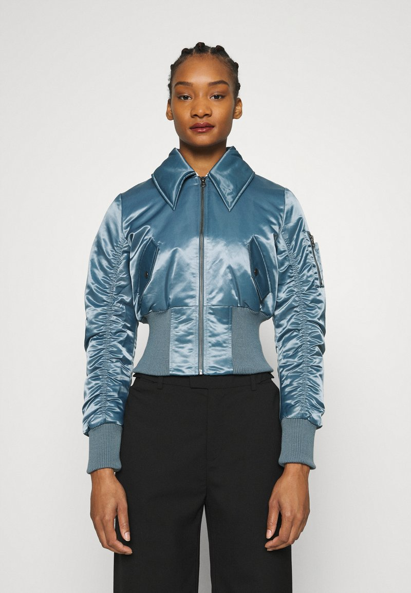 Who What Wear - JACKET - Bomber Jacket - grey blue