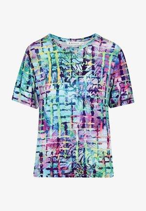 T-shirt print - turquoise-mauve