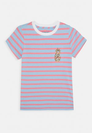 STRIPED CRITTER TEE - T-shirt z nadrukiem - blue