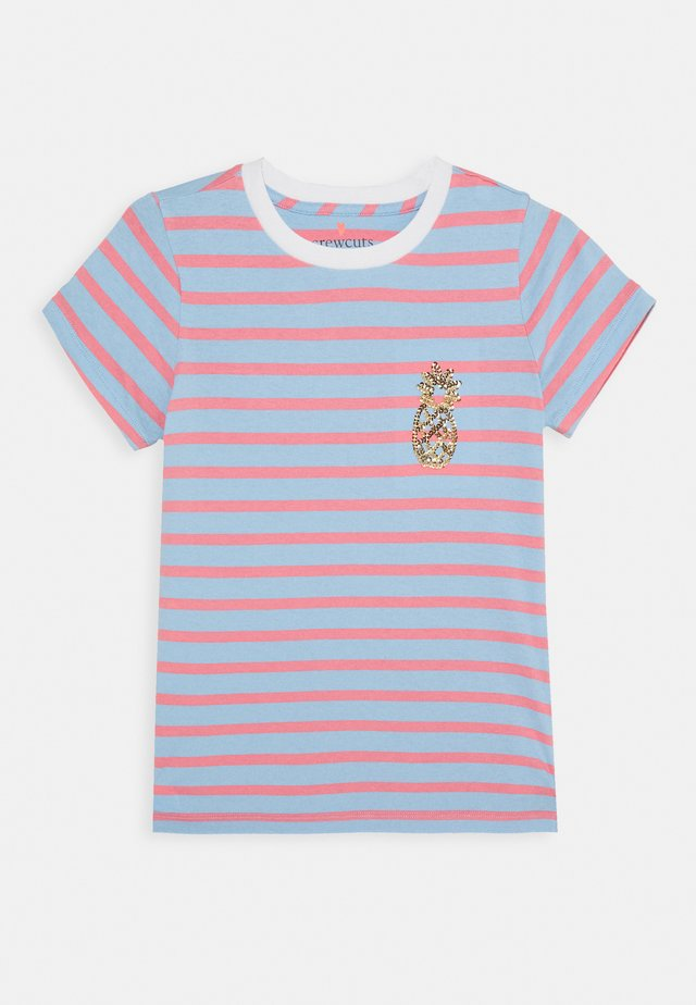 STRIPED CRITTER TEE - T-shirts med print - blue
