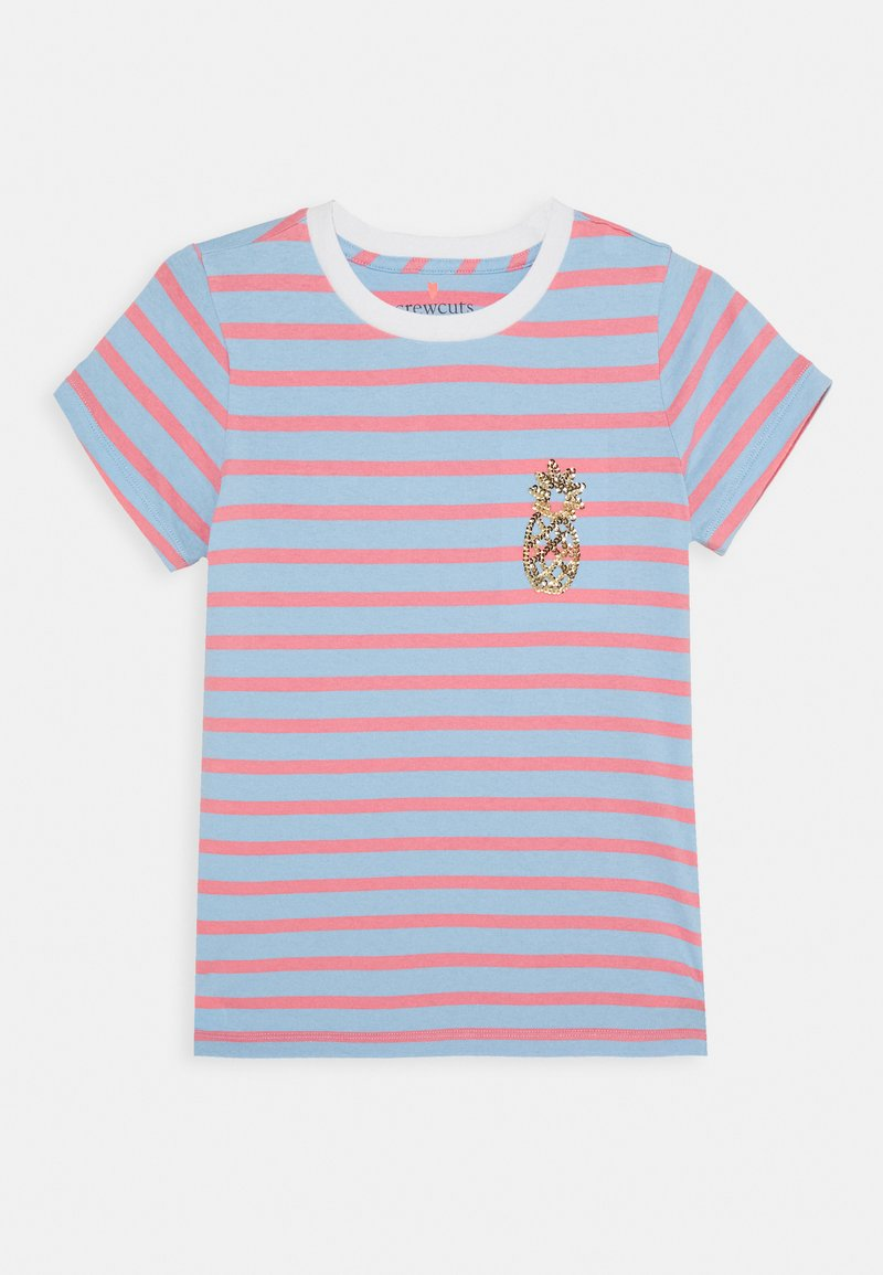 J.CREW - STRIPED CRITTER TEE - Print T-shirt - blue