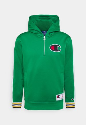 HALF ZIP HOODED - Sweat à capuche - green