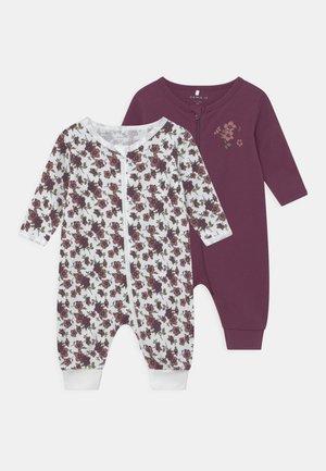 NBFNIGHTSUIT ZIP 2 PACK - Pyjamas - prune purple