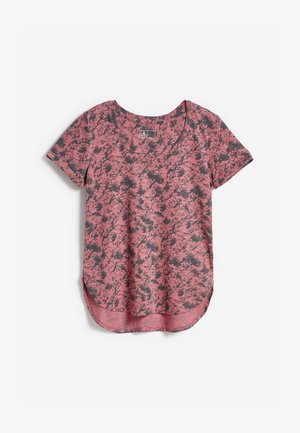 Print T-shirt - mottled pink