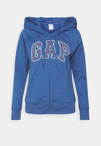 Mikina na zip - chrome blue