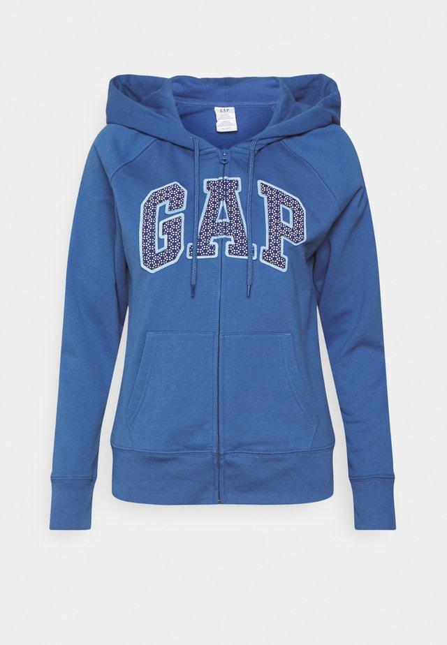 Zip-up sweatshirt - chrome blue
