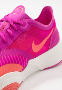 Nike Performance - SUPERREP GO - Sports shoes - fire pink/magic ember/summit white - 5