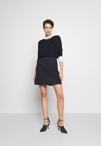 MAX&Co. - CANALI - A-line skirt - midnight blue - 1