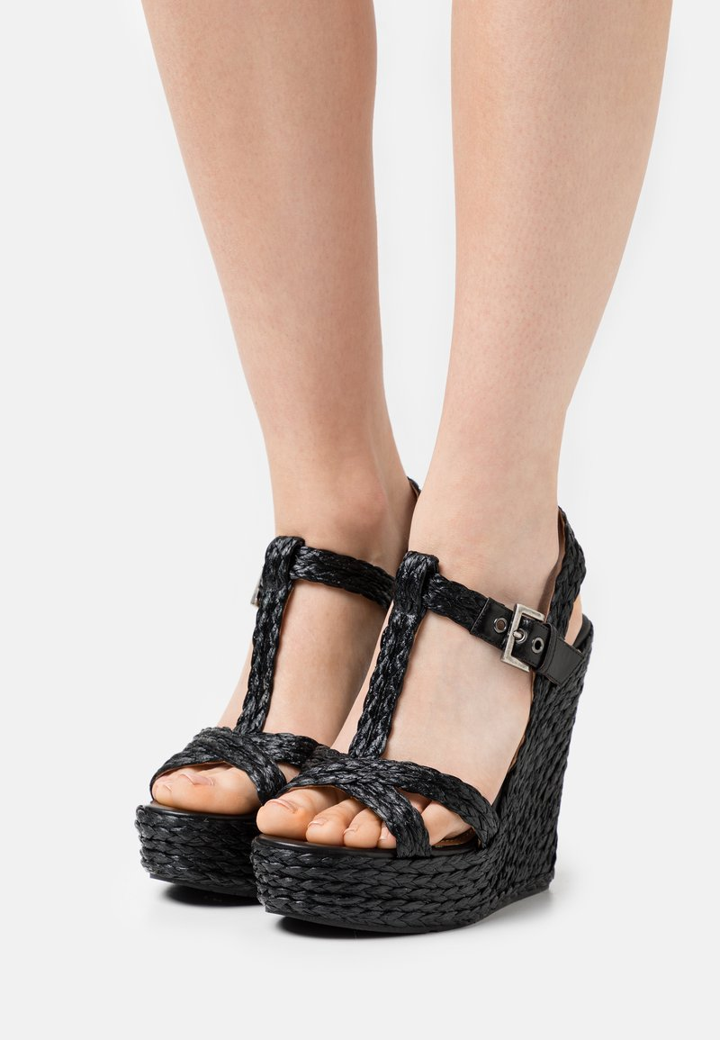 Pura Lopez - Sandály na platformě - black