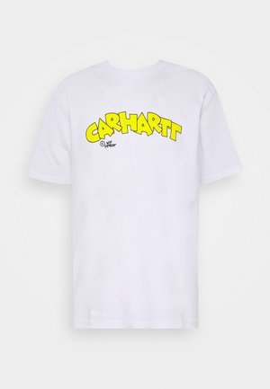 LOONY SCRIPT - T-Shirt print - white