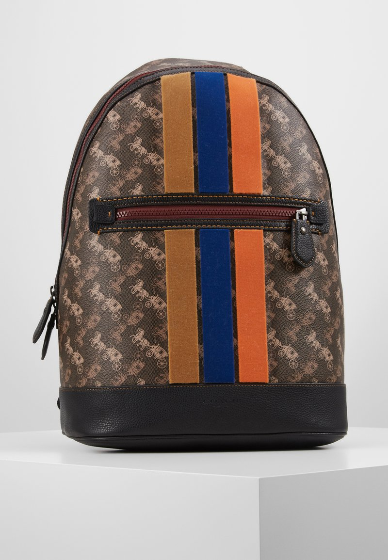 Coach - BARROW BACKPACK IN HORSE AND CARRIAGE  - Reppu - black/brown