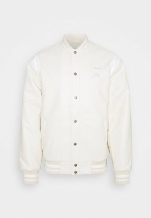 JACKET UNISEX - Faux leather jacket - off white