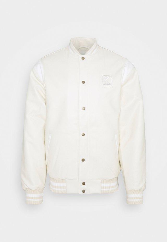 JACKET UNISEX - Imitert skinnjakke - off white