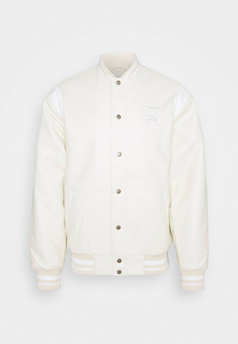 Karl Kani - JACKET UNISEX - Faux leather jacket - off white