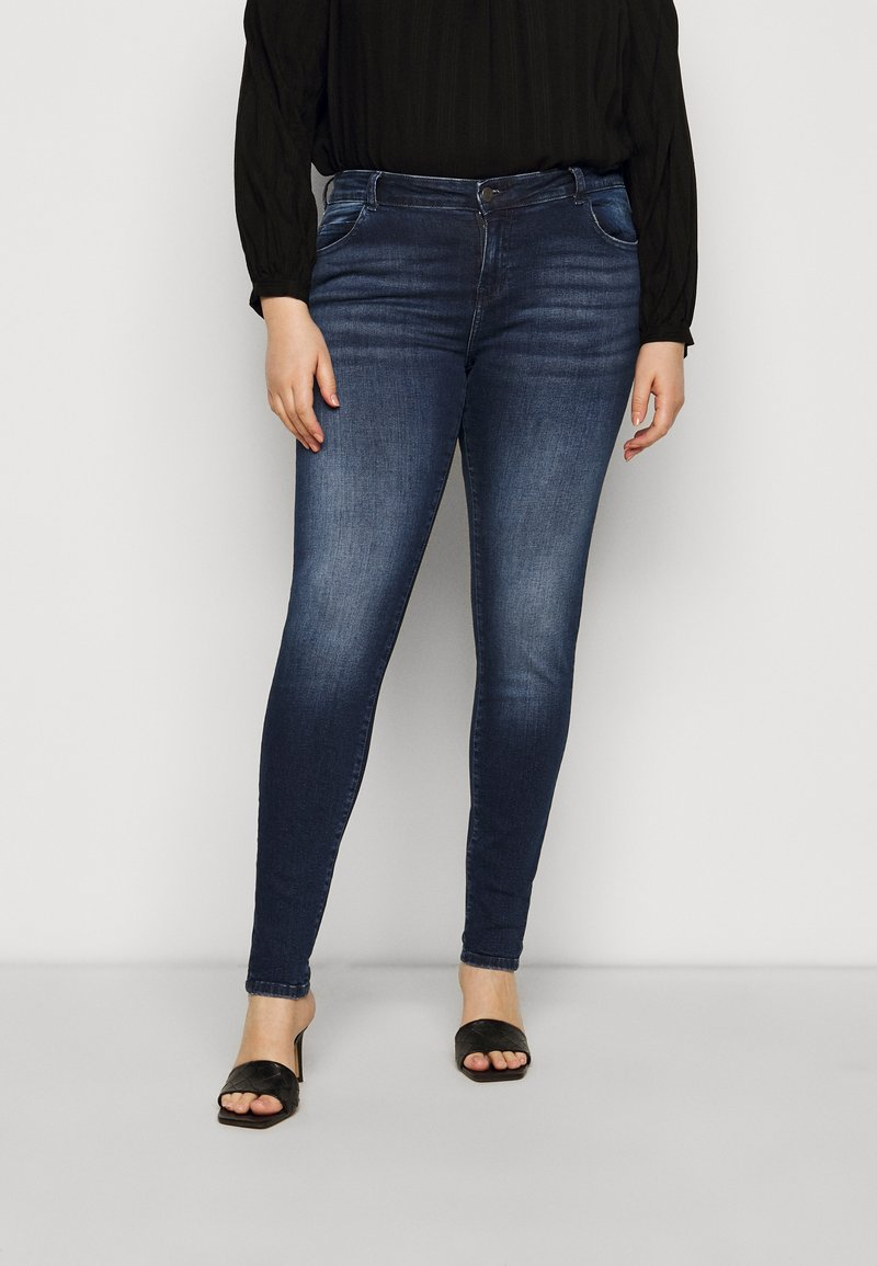 Noisy May Curve - NMLUCY  - Jeans Skinny Fit - dark-blue denim