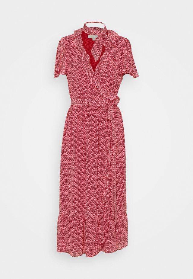 PRINTED MIDI DRESS - Korte jurk - crimson