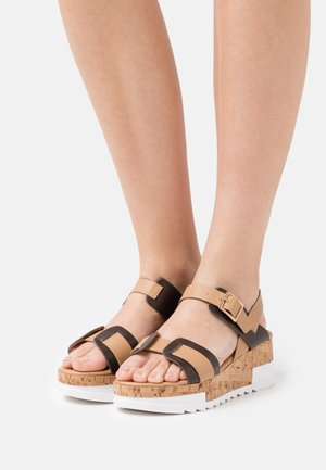 Platform sandals - basic sand