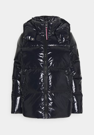 HIGH GLOSS PUFFER - Down jacket - desert sky