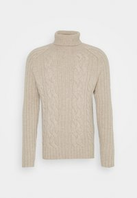 Banana Republic - CABLE NECK - Jumper - vintage tan - 0
