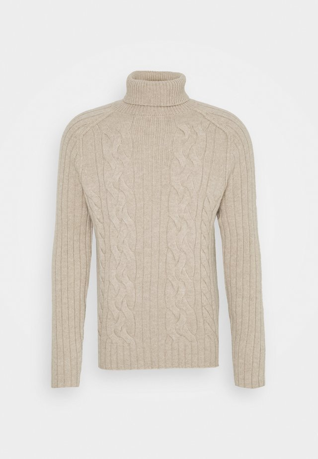 CABLE NECK - Pullover - vintage tan