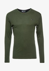 Tommy Jeans - LONG SLEEVE TEE - Långärmad tröja - forest night - 3