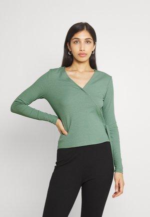 VIJULLA WRAP - Maglietta a manica lunga - hedge green