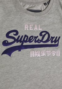 Superdry - DUO ENTRY TEE - T-shirts med print - grey marl - 2