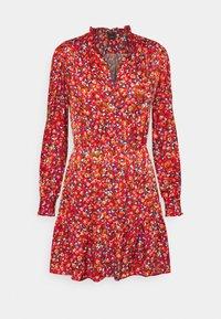 Pinko - NOMADE ABITO CLOQUE FIORELLINO - Day dress - red - 5