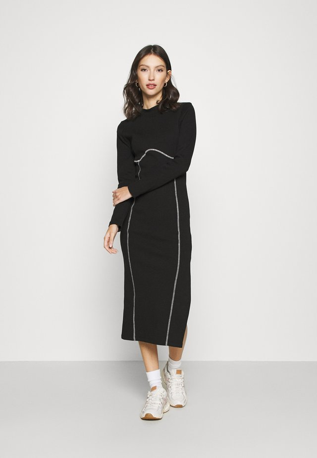 FLATLOCK MIDI - Day dress - black