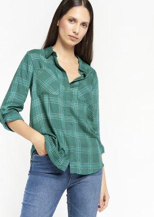 CHECK - Button-down blouse - green