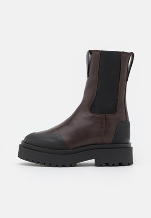 SHOES - Platform ankle boots - brown