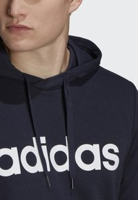 adidas Performance - ESSENTIALS FRENCH TERRY LINEAR LOGO HOODIE - Hoodie - blue - 5