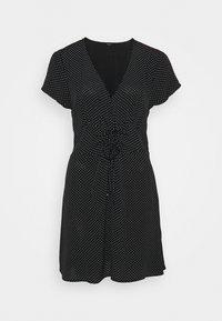 Cotton On - MARISSA GATHERED FRONTMINI DRESS - Kjole - tiffany black - 0