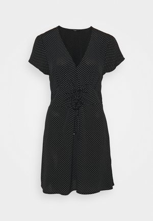MARISSA GATHERED FRONTMINI DRESS - Kjole - tiffany black
