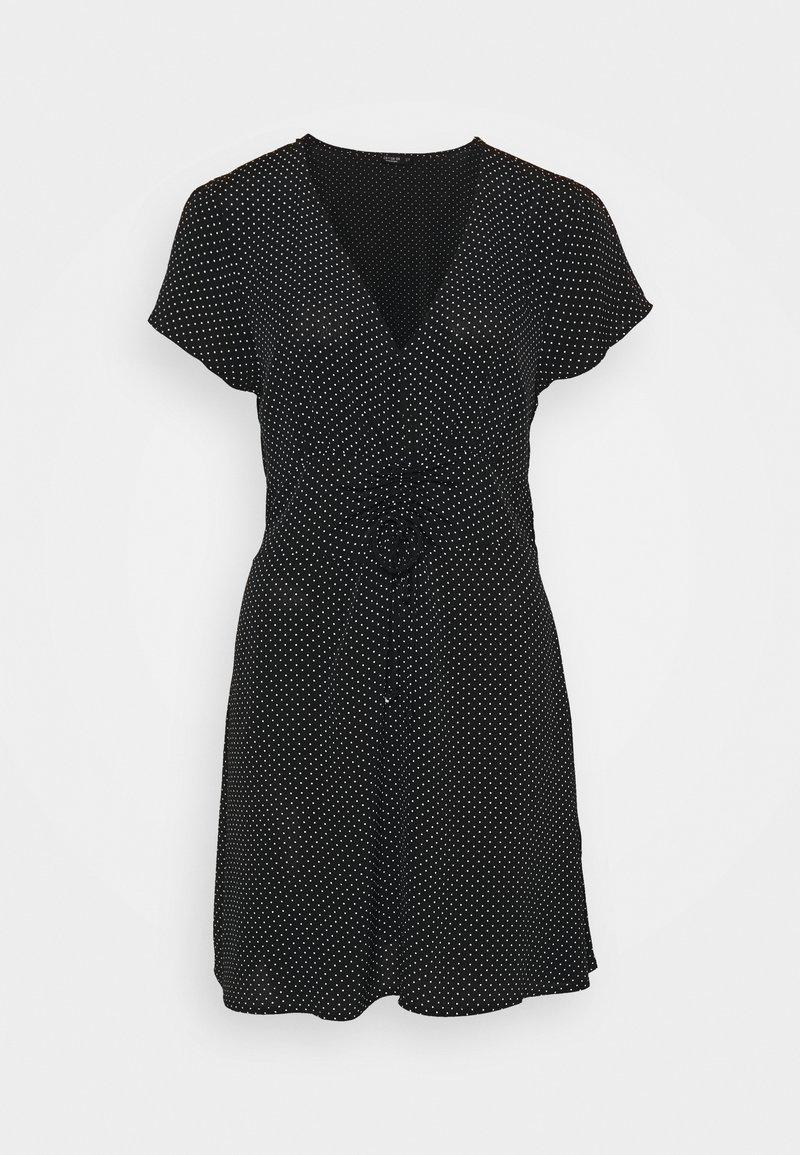 Cotton On - MARISSA GATHERED FRONTMINI DRESS - Kjole - tiffany black